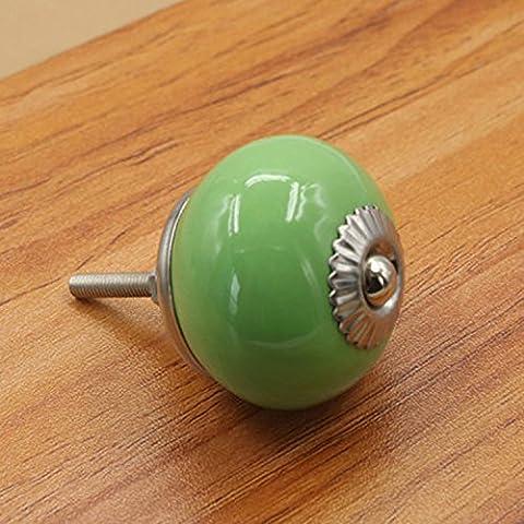 Fbshop (TM) 10pcs en céramique de style Europe Boutons/poignées/à partir avec fixée pour armoires de cuisine en acier inoxydable, placard, armoire, tiroirs, commode, Bin, commode, etc. vintage DIY Home décoratifs
