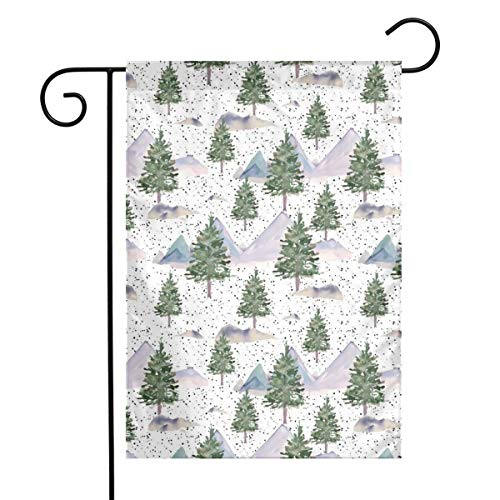 Winter Tree Scene Black Dots Art Garden Flag Yard Flag 12