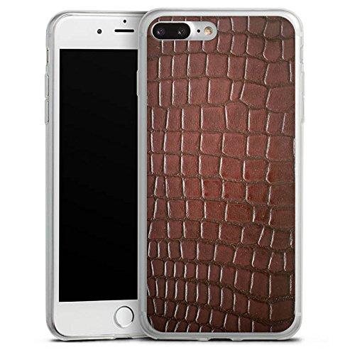 Apple iPhone X Slim Case Silikon Hülle Schutzhülle Krokodilhaut Look Krokodil Silikon Slim Case transparent