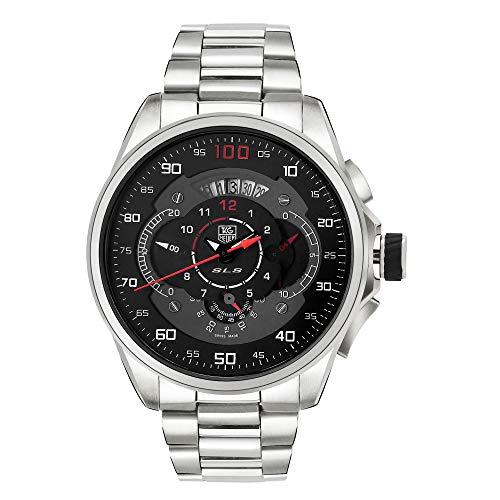 Hazar Watch SLS Mercedes Benz Automatic Chronograph Watch for Men(Silver)