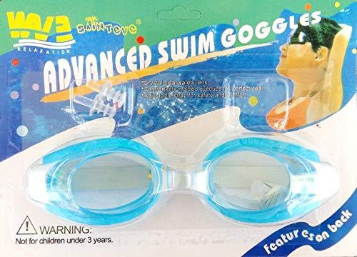 Inception Pro Infinite Schwimmbrille für Erwachsene und Kinder mit Nase und Ohrstöpsel (Hellblau)