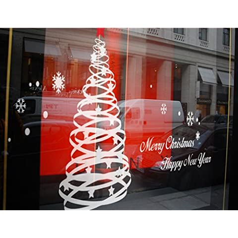 Newsee Decals-Albero di Natale con cuori e