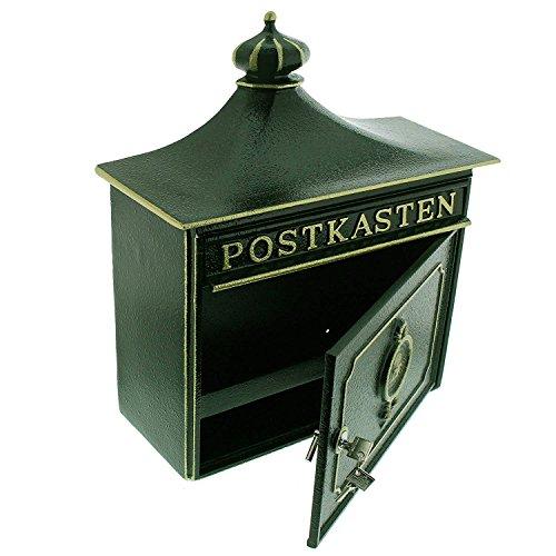 BURG-WÄCHTER, Alu-Guss-Briefkasten mit Komfort-Tiefe, A4 Einwurf-Format, Bordeaux 1895 GR, Grün - 3