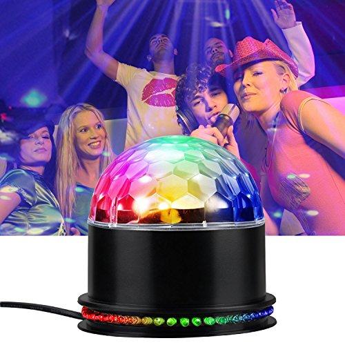 LED Lichteffekte Partybeleuchtung, Infreecs Partylicht Discolicht Diskokugel Lampe Bühnenbeleuchtung [Stimme Steuerung] für Disco, Bar, party, Halloween, Hochzeit, Tanzfläche (Disco-ball-christmas Lights)