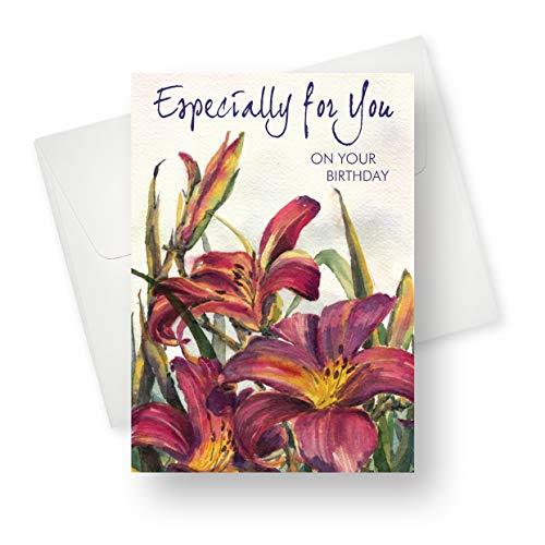 Grußkarte mit einzigartigem Blumen-Design, 14 x 19,1 cm, 175 Stück