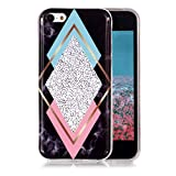 Coque Marbre iPhone 5C, Ronger Étui Gel TPU Silicone Soft Marble Case Cover Mode...