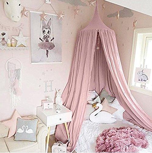 Betthimmel für Kinder/Babys, Baumwolle, Moskitonetz zum Aufhängen, Vorhang, Spiel- und Lesezelt für innen und außen, Bett-/Schlafzimmerdekoration, Insektenschutz, Höhe 240cm, Umfang oben: 152cm, Umfang unten: 265cm