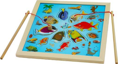 Toys of Wood Oxford pêche à la ligne magnétique enfant - pêche à la ligne en bois - jouet en bois pour 3 ans