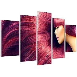 Cadre sur châssis toile canvas--Prêt à accrocher-Cheveux-Mode Fashion Blog-Coiffeur 170x86cm