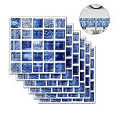 Teepa Adesivi per Piastrelle Wall Stickers da Mattonelle Parete in PVC Impermeabile Autoadesivo Decorazione Adesivi Pavimento per Bagno Cucina,20x20cm,Set di 6 Pezzi