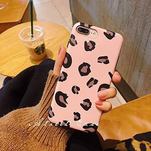 GUYISJK Mobile Shell Europa Und Amerika Kaltes Licht Leopard Soft Peeling Net Rot Mit Nordischen Persönlichkeit Weiblichen Handy Cover All Inclusive Drop, 7 8Rosa Leopard (Weich) -
