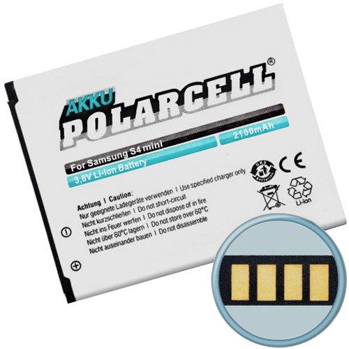 PolarCell Akku für Samsung GT-i9195 Galaxy S4 mini LTE (EB-B500BE/EB-B500BU) 2100mAh/8Wh