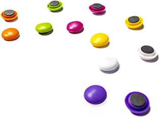 Colourful Whiteboard, Fridge Magnetic Pin Button Magnets, 60 Pcs