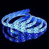 GOESWELL Waterproof LED Ribbon Lights 3528 DC5V 1M 60leds Blue USB Flexible LED Strip Lights