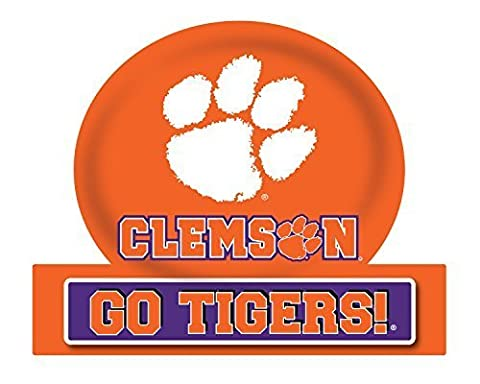 CLEMSON TIGERS JUMBO TAILGATE MAGNET-CLEMSON UNIVERSITY CAR MAGNET by R