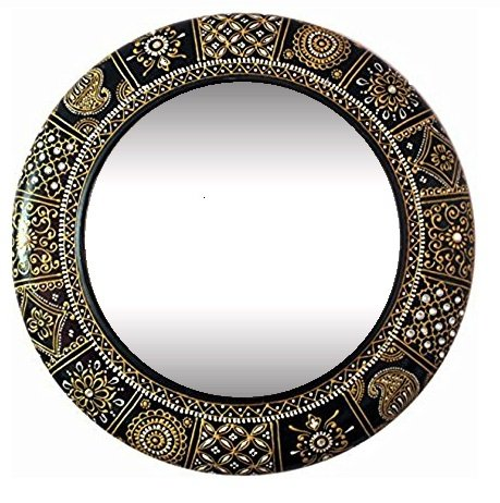 Wall Mirror for home / mirror for wall / hanging mirror / painted mirror / ddass mirror / small mirror by D'Dass