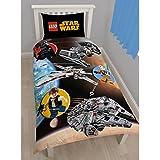 Lego Star Wars espacio funda para edredón y almohada 100% algodón