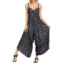 HCFKJ Combinaison Femme Ete Combinaison Femme Chic pour SoiréE Combinaison  Pantalon Grande Taille Mode Sling V a9f8ff3c5da