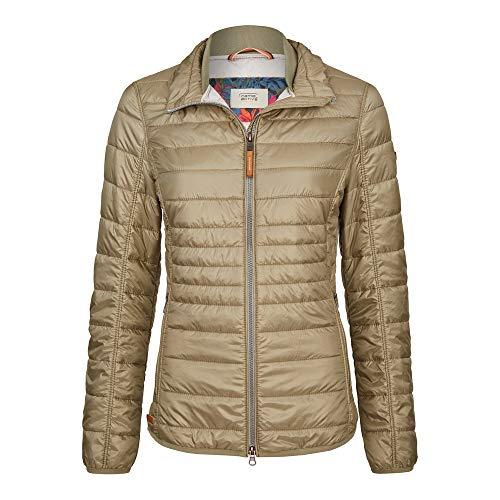 camel active Womenswear Damen Leichtstepp Jacke, Grün (Pale Khaki 81), 44