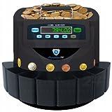 Münzzähler Münzzählmaschine Münzsortierer Geldzählmaschine Münzen SR1200T Transporter von Securina24® (schwarz-BBBT)