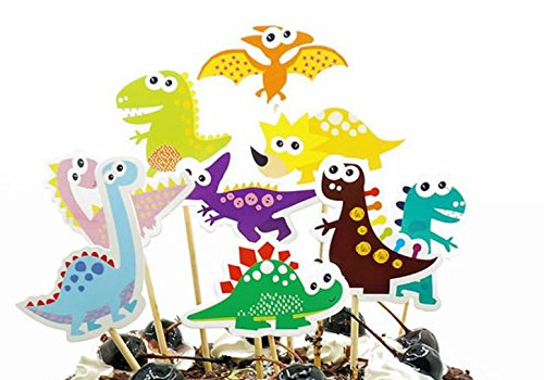 18 Dinosaurier Kuchen Topper Cupcake Topper Party Dekorationen (Party Supplies Minnie Kind)