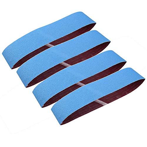 Aluminum nastri abrasivi 4pcs-goodchanceuk blu sgrossatura levigatrice cintura 100x 915mm ossido di alluminio carta vetrata abrasivo per metallo ruggine lucidatura rettifica blu