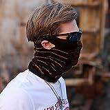 iRegro máscara facial y cuello máscara facial respirante, a prueba de polvo resistente al viento motocicleta bicicleta máscara facial para ciclismo, senderismo, camping, escalada, pesca, caza, motociclismo (Negro y naranja)