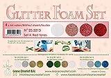 Leane Creatief Flower Glitter Foam Moosgummi 25.5213