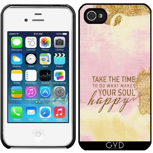 Leder Flip Case Tasche Hülle für Apple iPhone 5/5S - Sagen Glücklich Gold Aqua Mädchen by UtArt Starre Kunststoff