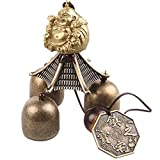 Imported Chinese Buddha Coin Metal Bell Lucky Feng Shui Hanging Charm Wind Chime