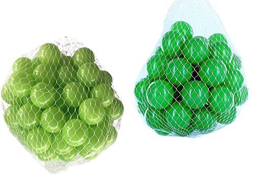 1000 Bälle für Bällebad gemischt mix mit grün und hellgrün (1000 Bällebad Bälle)