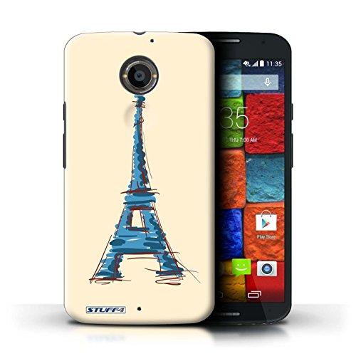 Kobalt® Imprimé Etui / Coque pour Motorola Moto X (2014) / La porte de Torii/Japon conception / Série Monuments Tour Eiffel / Paris