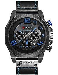 Curren hombres reloj cronógrafo cuarzo relojes multifuncional Militar deportes reloj de pulsera con correa de…