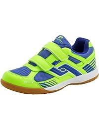 Pro Touch niños zapatillas de interior botas de fútbol de deportes de interior zapatos Velcro, verde, 35 LA UE