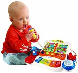 vtech jouet 1er ge eveil b b karaok en fran ais jeux et jouets. Black Bedroom Furniture Sets. Home Design Ideas