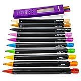 Best Crayola crayons de couleur pour adultes - Zebra–Zensations ergonomique mécanique Crayons de couleur Assortis–mine de Review