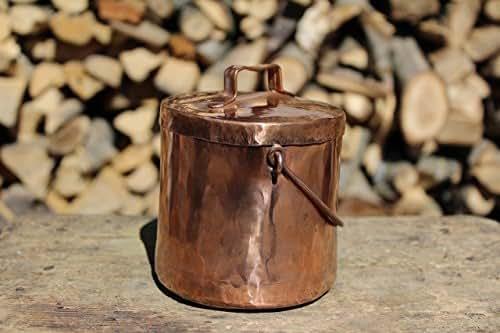 Barattolo portaoggetti contenitore in rame lavorato a mano for Regalo oggetti usati