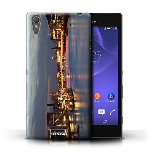 Kobalt® Imprimé Etui / Coque pour Sony Xperia T3 / London Eye conception / Série Londres Angleterre London Bridge