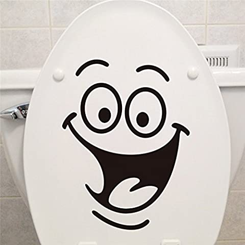 zooarts Big Mouth autocollant Stickers WC toilette Salle de bain Stickers Stickers muraux Amovible vinyle Art Decor Papier peint