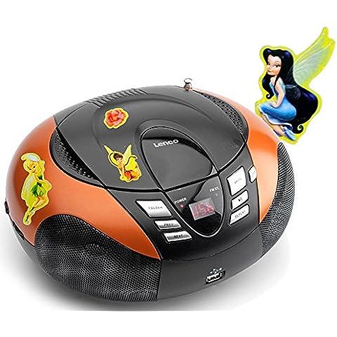 Lettore di CD portatile con sintonizzatore FM radio MP3 WMA USB MW con ricamo (Ricamo Cd)