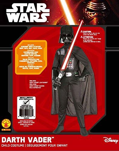 Imagen de star wars  disfraz de darth vader, para niños, talla 3 4 años rubies 882009 s  alternativa