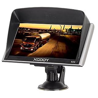 xgody 826Truck GPS Navigation System für KFZ 17,8cm Kapazitive Touchscreen GPS 8GB ROM Navigator mit Lifetime Maps Updates gesprochen Turn-by-Turn Richtungen