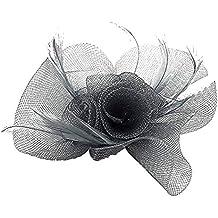 Mujer Boda Fiesta Dama Nueva Flor y pluma tocado Clips de pelo