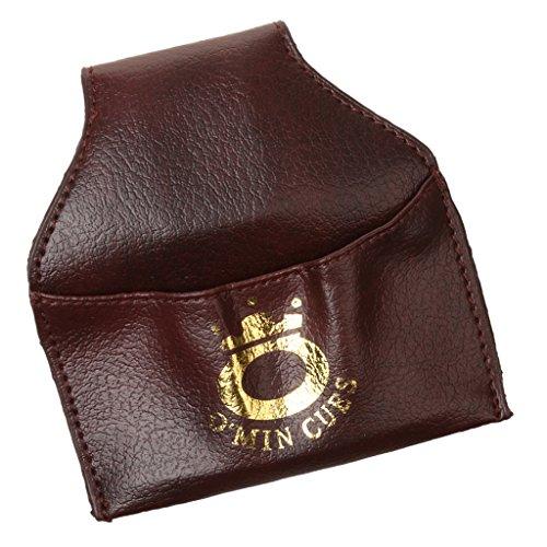 PU-Leder Billard Snooker Kreidehalter, Billiardkreide Halter / Tasche / Beutel mit Gürtel Clip
