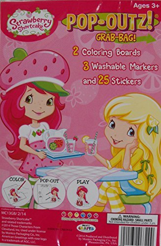 Grab Bag! Mini Set~ Strawberry Shortcake ~ Coloring Activity Boards ~ Markers ~ Stickers by American Greetings Strawberry Shortcake ()