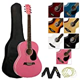 Tiger ACG2-PK Pack de Guitare acoustique - Rose