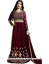 Dealbazaars Latest Designer Party Wear, Traditional Anarkali Salwar Suit/Long Gown With Dupatta (Semi-Stitched_Free...