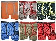 Uomo Pack de 12 Calzoncillos para Niños/Adolescestes SIN Costuras, Elásticos, Suaves y Cómodos. Colorido/Model