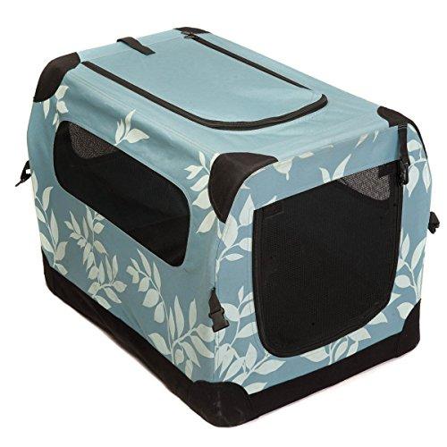 Favorite 71 x 51 x 51 cm Transportín para mascotas, bolsa de viaje plegable y portátil para animales, tela impermeable 600D Oxford y malla para ventilación