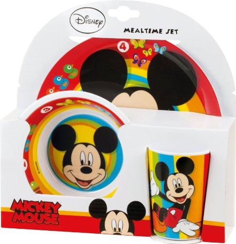 eller + Schale + Tasse Mickey Mouse Frühstück Set (Disney Mickey Ohren Kind)